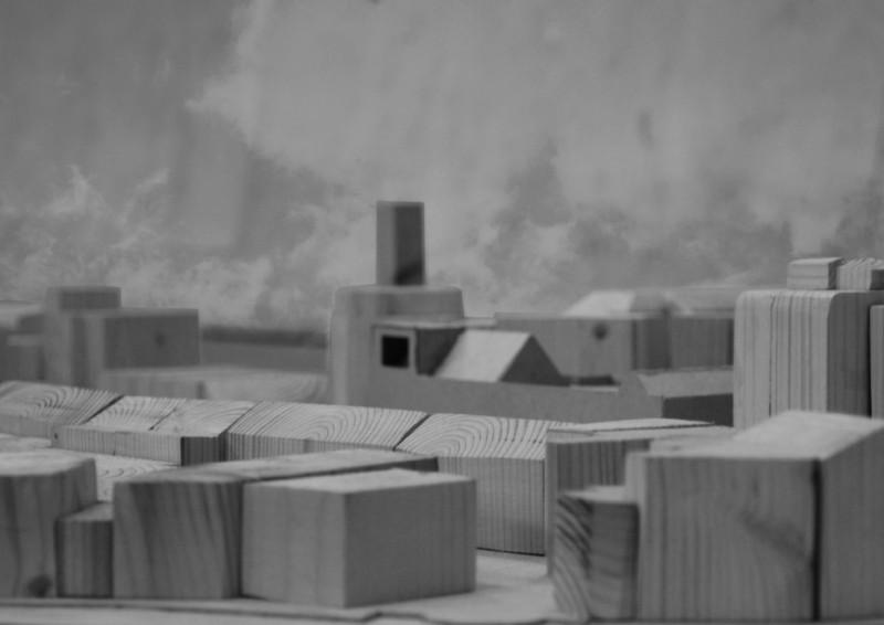 1:500 Kingsland Road site model in timber