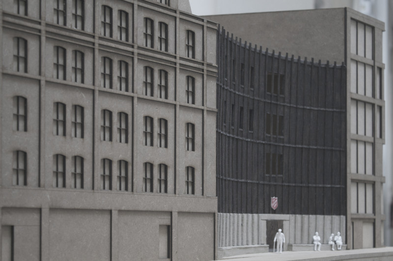 Model of street facade