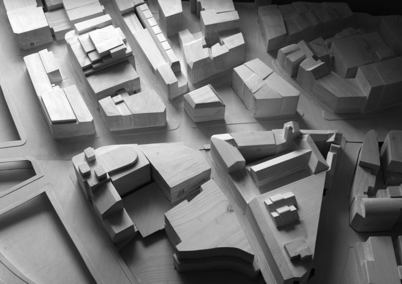 1:500 Clerkenwell site model in timber